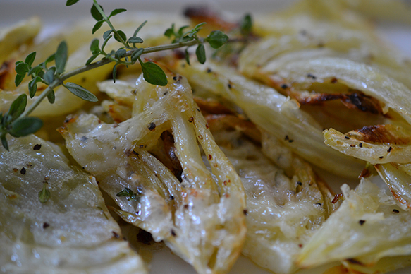 Roasted Fennel with Asiago and Thyme Shredded Sprout