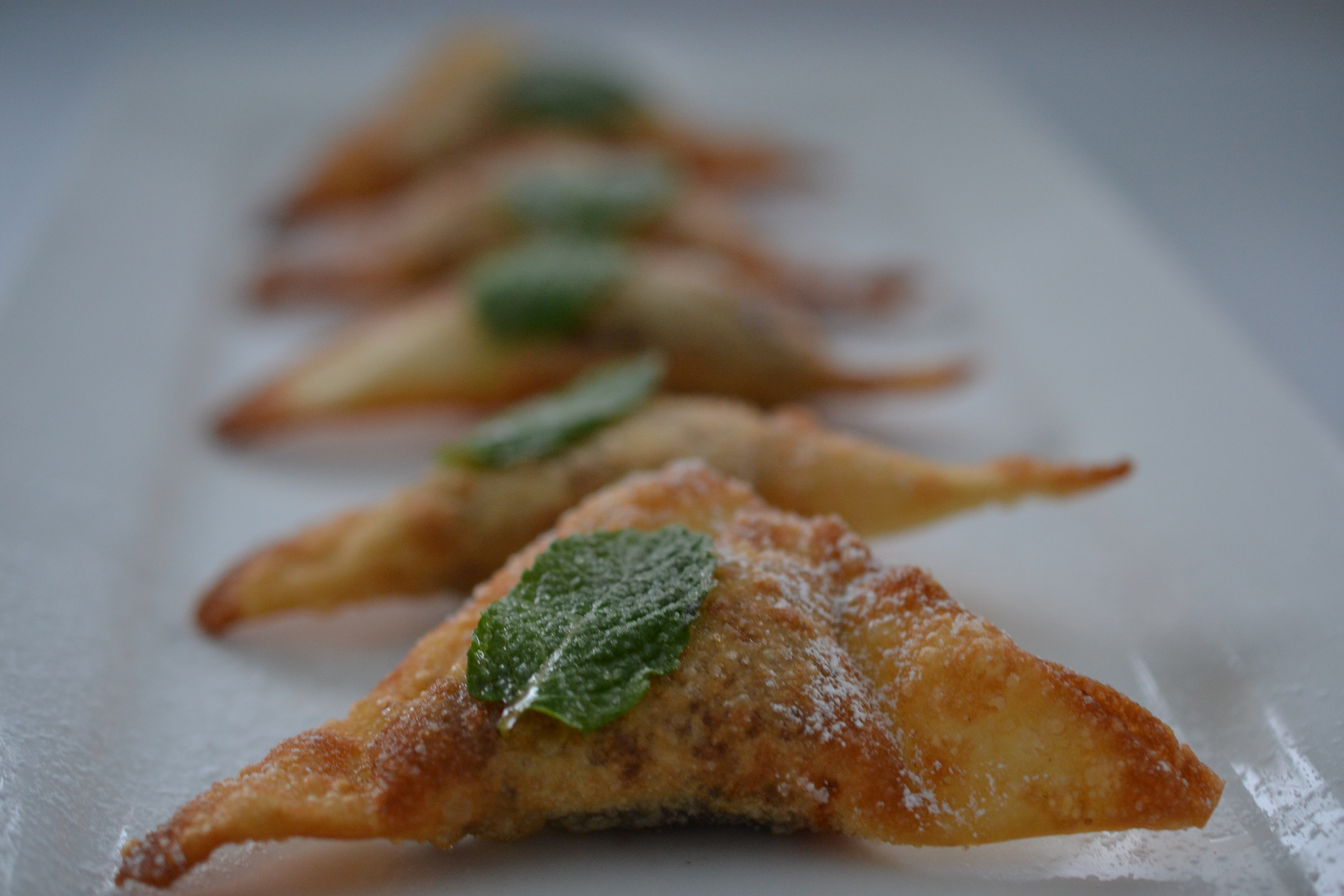 Chocolate Wontons Shredded Sprout