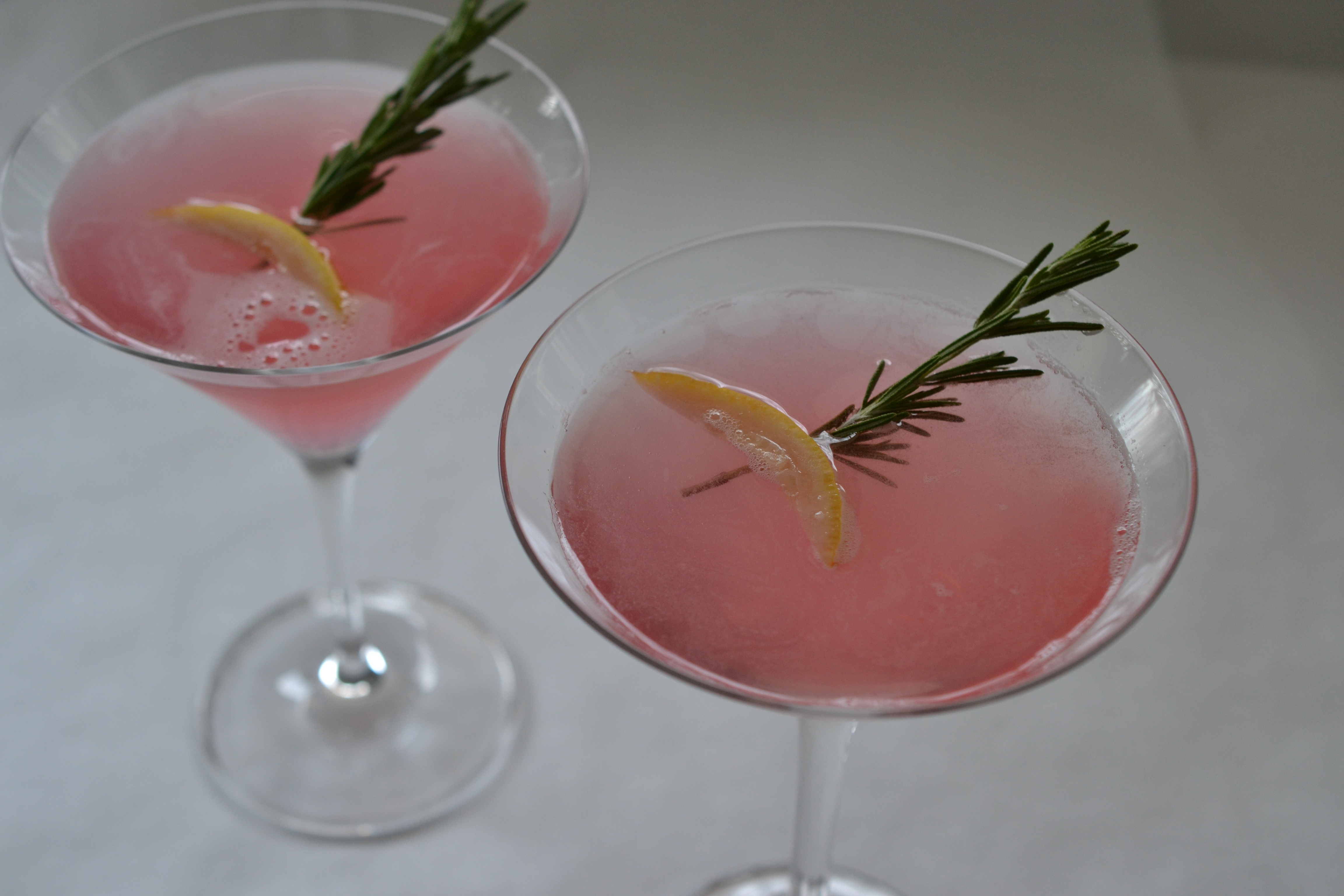 » Rhubarb Rosemary Martini Or Spritzer Shredded Sprout