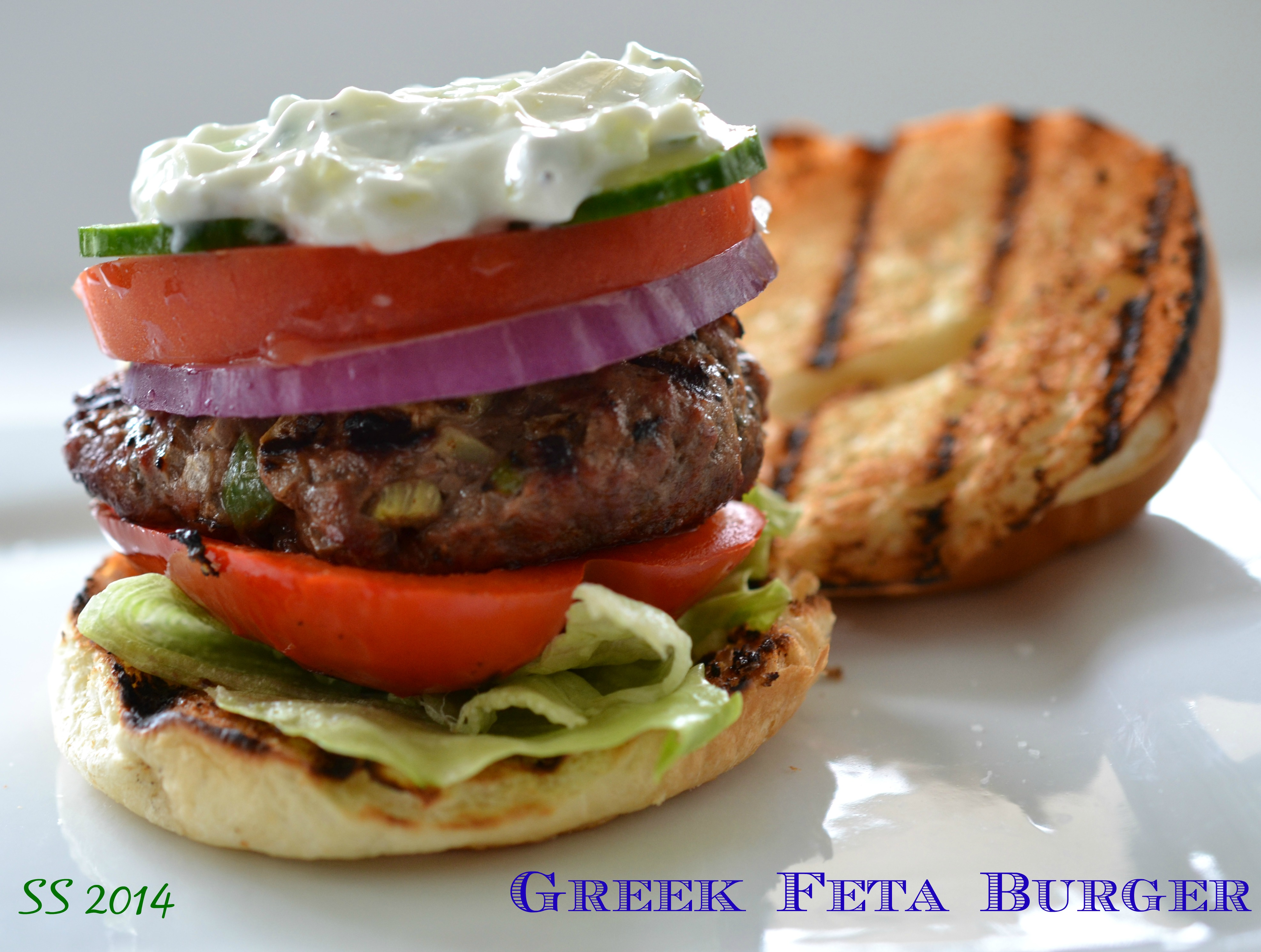 Greek Feta Burger Shredded Sprout