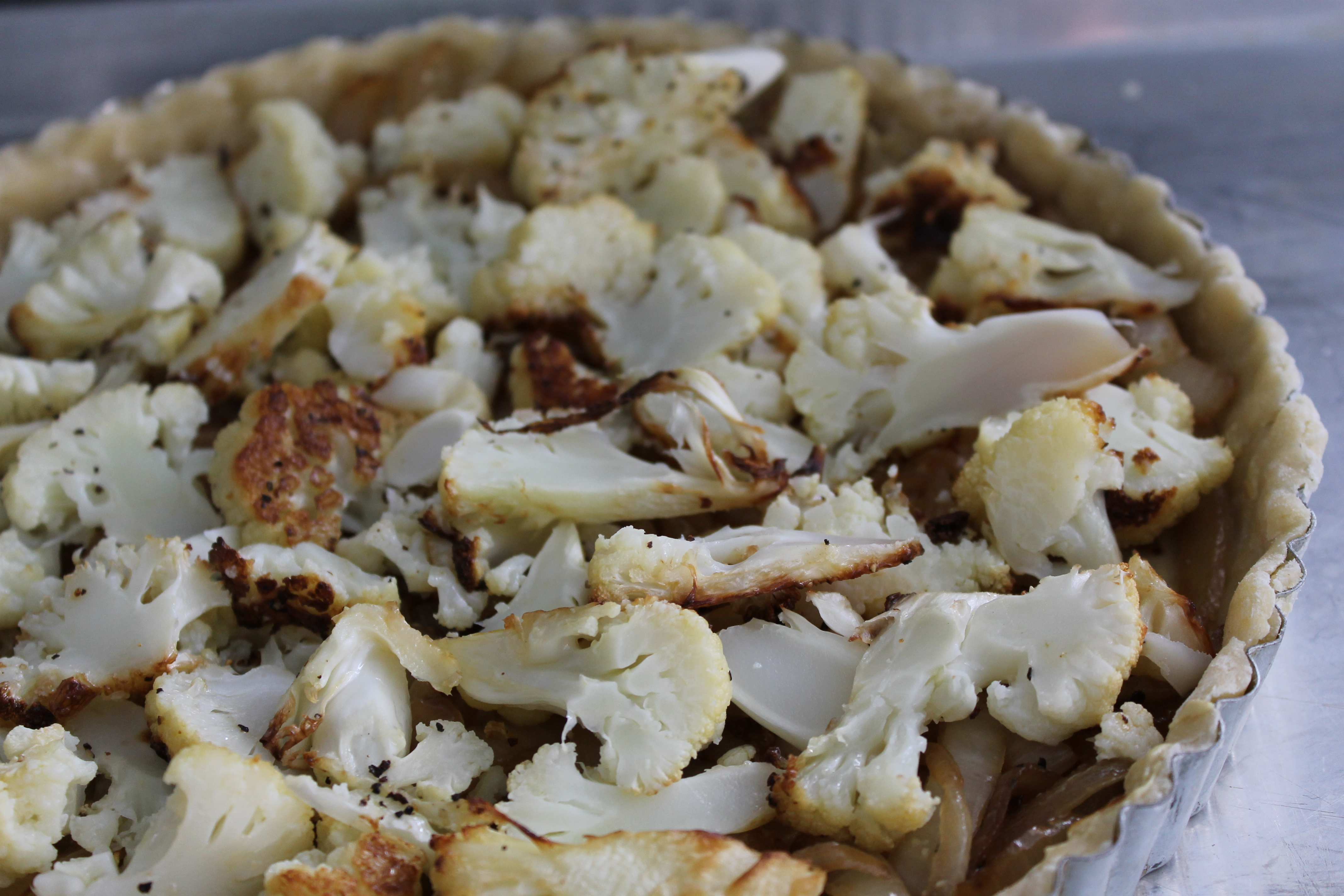 » Cauliflower and Caramelized Onion Tart Shredded Sprout
