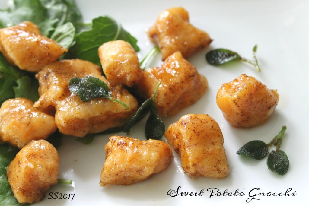 Sweet potato gnocchi with brown butter sage shredded sprout dont be intimidated because this easy recipe combines a thanksgiving staple with ingredients you already have in your pantry plus it can be fun cooking forumfinder Image collections